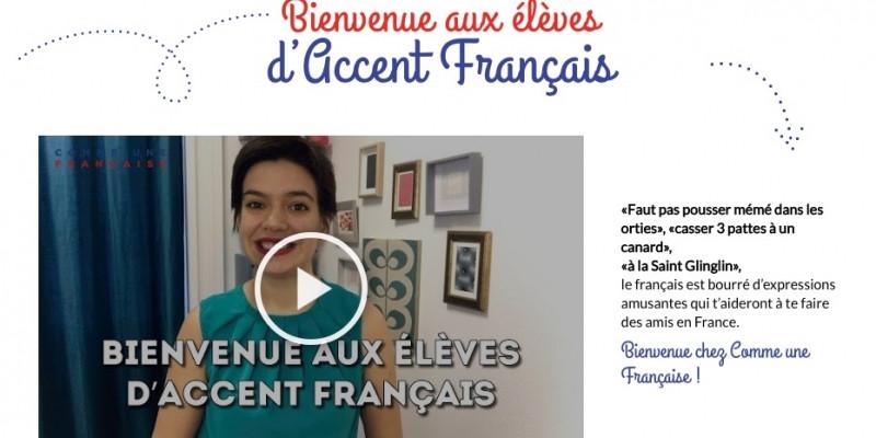 Accent Français, partenaire officiel de Géraldine alias